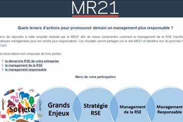 Participez à l'enquête MR21 : quels leviers pour un management plus responsable ?